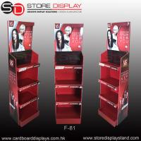 Wholesale POP daily necessities corrugated floor display rack for shampoo from china suppliers