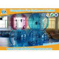 Wholesale Blue / Green / Pink Human Sized Bubble Ball Inflatable Hamster / Fuzzy Football from china suppliers