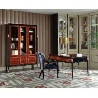 Wholesale Luxury Villa house office Furniture Ebony wood Book cabients and Reading desk in glossy painting with Writing chairs from china suppliers