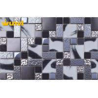 Wholesale OEM Pressure Resistant Dark Grey Kitchen Tiles With Glass / Stainless Steel from china suppliers