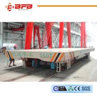 China 150T Dual Drive Large Load Bearing Rail Cart Equipped With Alarm Light on sale