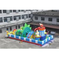 Quality 15x8M  Inflatable Toddler Playground With Printing Logo / Backyard Obstacle Course for sale