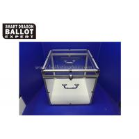 Quality Customized Acrylic Ballot Box Transparent Voting Box With Lock for sale