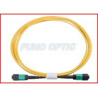 Quality 24 X Lanes LC Fiber Optic MPO Trunk Cable OS2 Single Mode Low Insertion for sale