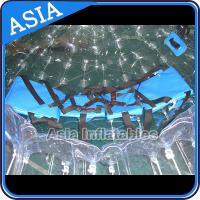 TPU Transparent Inflatable Grass Zorbing Ball with Safety Harnesses for sale