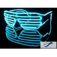 Wholesale Fashionable Plastic Glowing El Wire Glasses For Party , Shutter Shades Sunglasses from china suppliers