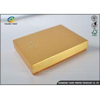 Wholesale Light Weight Chocolate Gift Boxes , Cardboard Boxes With Lids Golden Covering from china suppliers
