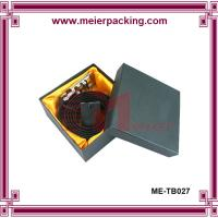 Wholesale Lether belt paper box/Black square cardboard paper box ME-TB027 from china suppliers