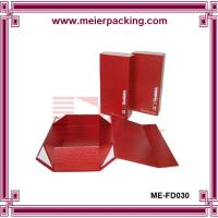 Wholesale Custom premium rigid folding box, magnet closure red foldable paper gift box ME-FD030 from china suppliers