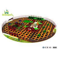 Buy cheap Large Amusement Indoor Trampoline Park Safe For Kids / Adult Long Life Span from wholesalers