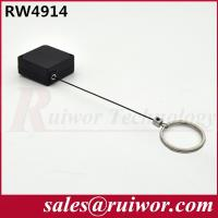Wholesale Demountable Key Ring Plastic Pull Box With Retractable Stainless Steel Lanyard from china suppliers