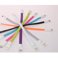 Wholesale Colorful Magnet Flat USB Cellphone Data Cable for iPhone Android phone from china suppliers