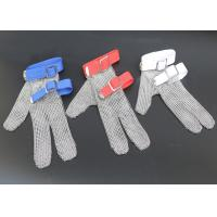 Wholesale Safety Protection Stainless Steel Wire Mesh Cut Resistant Gloves Three Fingers from china suppliers