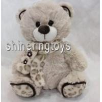 Wholesale Plush Toys Sitting Biege Bear with Scarf 8′′ from china suppliers
