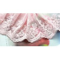 Wholesale pink cotton embroidery floral venise lace fabric trim sewing DIY dress L267 from china suppliers