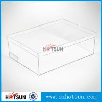 Wholesale Hot sale clear transparent sport shoes sneaker acrylic display boxes from china suppliers