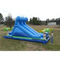 Wholesale PVC Tarpaulin Commercial Inflatable Slide , Renting Roaring River Slide from china suppliers