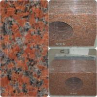 Wholesale Maple Red Granite Work Tops Polished Solid Surface High Hardness / Density from china suppliers