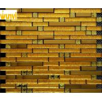 Wholesale Interior Wall Decorative Strip Gold Mosaic Tiles , Gold Mirror Mosaic Tiles from china suppliers