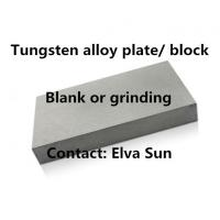 Buy cheap tungsten alloy plate strip lath block machine sintering blank block nickel iron from wholesalers