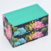 Wholesale Hot Wholesale High quality Colorful Flower Pattern Gift Box 2 Layers Drawer Boxes from china suppliers