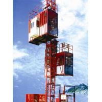 Customized Color Construction Material Hoists , Construction Elevator With 36m / Min To 96m / Min Speed for sale