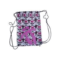 Wholesale Heat Transfer Printing Bags, Pink Heart Nylon Strings Back Bag With Zipper from china suppliers
