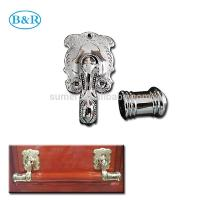 Wholesale H057 Australia Style Metal Coffin Handles Zamak Fix bar handles from china suppliers