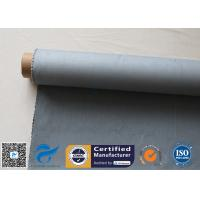 China Grey Silicone Coated Glass Fabric 1500gsm Two Side Coated Glass Fiber Cloth on sale