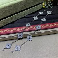 Wholesale van cleef high jewelry White Gold Diamond Van Cleef Vintage Alhambra Bracelet 5 Motifs For Girls from china suppliers