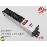 Wholesale 6 Outlet Flat Plug Power Strip Metal PDU With Overload Protector IEC Approved from china suppliers