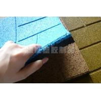 Wholesale Blue Color Rubber Paving , Rubber Gym Floor Tiles Non-slip / anti-UV from china suppliers