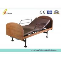 Wholesale Wooden 2-function Manual Medical Hospital Beds for Home Use by Steel Construction (ALS-HM003) from china suppliers