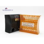 China Orange / Black Pillow Box For Bath Set Custom Printed Plastic Boxes 13X4.5X11.5cm for sale