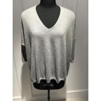 Wholesale Fashionable Spring Cashmere Sweaters / Women'S Grey V Neck Sweater 15DX001 from china suppliers