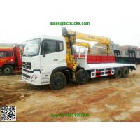 China DFL 8x4 flatbed truck mounted crane XCMG cranes 12-16T.m telescopic boom  Whatsp:8615271357675 on sale