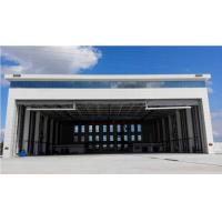 China Prefabricated Steel Aircraft Hangars Large Space Metal Hangar Design on sale