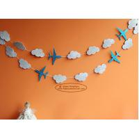 China White Cloud Airplane Paper Garland Craft Tassel Garland Solid Color And Mixed Color for sale