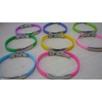 Buy cheap Customized silicone healthy wristband with metal clasp for children, adult from wholesalers
