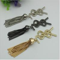 Handmade DIY handbag accessories making 185 length zinc alloy metal cord end cap with tassel for sale