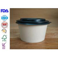 Wholesale Firm Kraft Paper Salad Bowls / Reliable Paper Soup Bowls Eco - Friendly from china suppliers