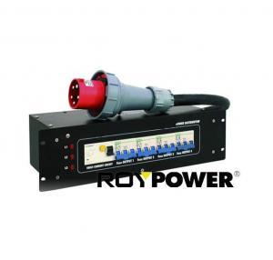Quality 63A 5 pin 3 Phases Portable Power Distribution Box Power Distributor 380 - 400 V AC for sale