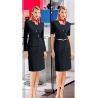China Custom Company workwear clothing Corporate Uniforms for ladies ,Black on sale