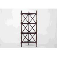 Wholesale Walnut Soild Wooden Corner Shelf 4 Tiers , Multi Purpose Storage Rack Living Room from china suppliers