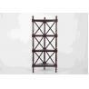 Buy cheap Walnut Soild Wooden Corner Shelf 4 Tiers , Multi Purpose Storage Rack Living from wholesalers