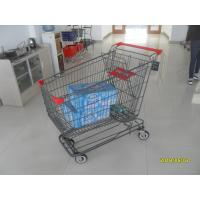 Wholesale Grey Powder Coating Asian Type Wire Shopping Trolley With 4 Swivel 5 Inch Casters from china suppliers