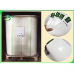 China 350gr White Paper Coated 20gr Polyethylene Rolls For Food Box Width 100cm 70cm for sale