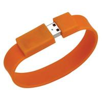 China Customized Color Logo Wristband Flash Drive With Fast Writing And Reading Speed on sale