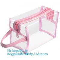 Wholesale cosmetic bag and transparent mesh makeup bag for costmetic bag, handle pvc toiletry bag cosmetic bag, Makeup Pouch, bag from china suppliers