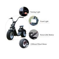 Quality 1200 W Two Wheels Electric Scooter , 2 Wheel Motor Scooter With Removable Battery for sale